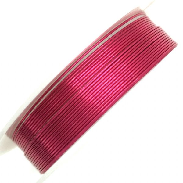 Colour coated copper wire for jewellery and crafts - colour fuchsia pink